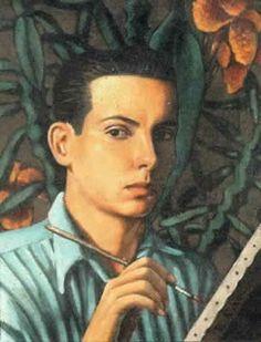 """Autorretrato"" Enrique Grau. 1939 Hispanic American, American Art, Colombian Art, Illustration, Drawings, Painting, Image, Inspiration, Virtual Museum"