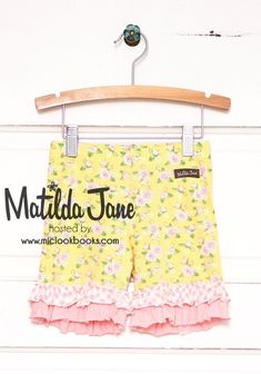 A visual archive of Matilda Jane Clothing: Sunny Garland Shorties