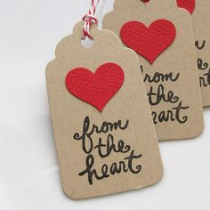 MUST BUY!!! Heart Gift Tags From the Heart Set of 8 by FreshLemonBlossoms, $5.25
