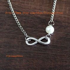 Infinity necklace  bridesmaid gifts  infinity of by flyinggifttou, $1.99