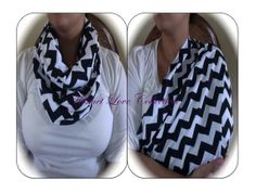 Black Chevron Nursing Scarf - Breastfeeding Scarf - Breastfeeding Cover - Infinity Scarf on Etsy, $15.00