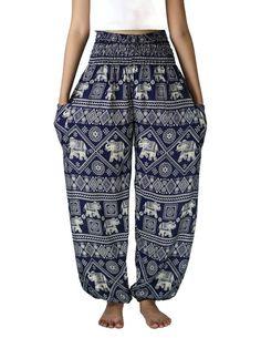 Black Elephant pants /Hippies pants /Boho pants Yoga by NaLuck