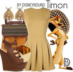 Hakuna Matata! Timon inspires this Lion King outfit. | fashion | outfits | disneyland outfits | disney world outfits | disney fashion outfits | disneybound | disneybound outfits | disney outfits | disney outfit ideas |