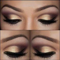 Gold Eye Make Up