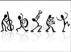 Musical instrument by icon: Stick figure band. Musical instrument by icon: Stick figure band. Music Drawings, Art Drawings, Drawing Drawing, Stick Figure Drawing, Black And White Posters, Music Tattoos, Stick Figures, Music Notes, Music Jam