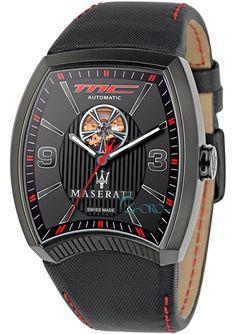 MASERATI Calandra Automatic Black Leather Strap R8821105003 - E-oro.gr MASERATI ΑΝΔΡΙΚΑ ΡΟΛΟΓΙΑ