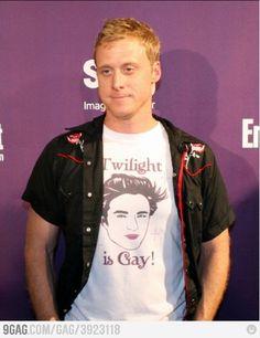 Hahaha! I love his tshirt!
