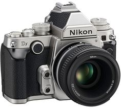 Nikon Df -- retro full-frame DSLR. I dream of the day when I will buy this and cuddle/use it everyday.