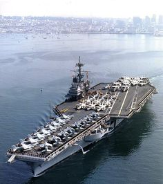 The US Navy has awarded a contract for the towing and dismantling of the decommissioned aircraft carrier Ranger (CV - the third Forrestal-class aircraft carrier, to International Shipbreaking, Ltd. Us Navy Aircraft, Navy Aircraft Carrier, Military Aircraft, Navy Day, Go Navy, Ranger, Cruisers, Navy Carriers, F4 Phantom
