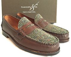 7827b64fe2f NWT-445-Brooks-Brothers-Rancourt-amp-Co-Men-039-s-Brown-Leather-Loafers -HANDMADE-USA