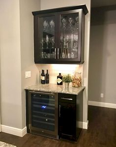 You'll have the option to add worth to your private home or loft and get extra delight by including a house minibar. There is a wide range of offers o. Wine And Coffee Bar, Coffee Bar Home, Home Coffee Stations, Mini Bar At Home, Home Wine Bar, Small Home Bars, Home Bar Decor, Cheap Home Decor, Built In Bar