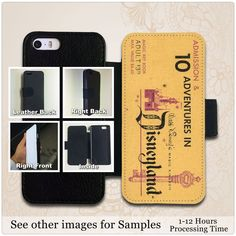Disney Land Vintage Ticket Leather Wallet Case For iPhone and Galaxy #UnbrandedGeneric