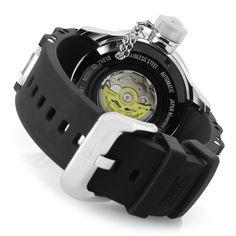 Invicta 52mm Russian Diver Automatic 0.75ctw Diamond Accented Silicone Strap Watch  caseback