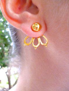 Ear Jacket, Earring Jacket, Sister Gifts, Gifts For Mom, Flower Earrings, Dangle Earrings, Front Back Earrings, Great Teacher Gifts, Bride Gifts