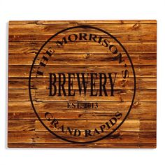 Personalized Monogrammed Brewery Aluminum Bar Sign