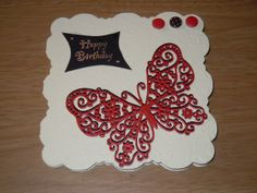 embossed the card and topped with die cut butterfly x2
