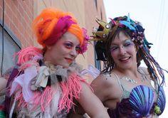Mermaids on stilts Mermaid Parade, Mermaids, Crown, Projects, Fashion, Log Projects, Moda, Corona, Blue Prints