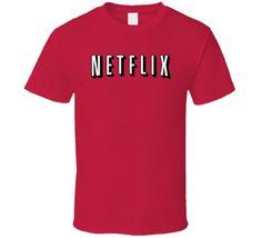 Netflix Logo Movies TV Series Binge Watch T Shirt