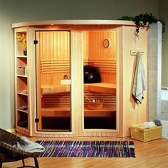 Amerec Alta Residential Sauna Package 81 3/4 x 81 3/4 x 84