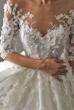 Of Our Favorite Steven Khalil Wedding Dresses ❤ See more: http://www.weddingforward.com/steven-khalil-wedding-dresses/ #weddings