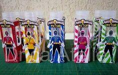 Kit 43 Power Rangers Samurai no Elo7 | Drica Ateliê - Lembranças e brindes personalizados (BDB59D) Samurai Power Rangers, Power Rangers Ninja, 3d, Ranger, 5 Years, Kids Part, Box, Tin Cans