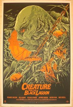 """2012 """"Creature From The Black Lagoon"""" - Poster by Ken Taylor"""