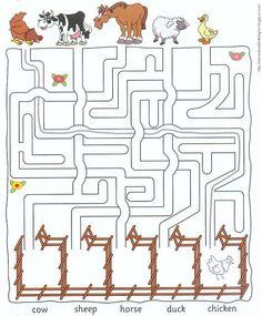 farm animal worksheets for kids Crafts and Worksheets for Preschool,Toddler and Kinderga. - farm animal worksheets for kids Crafts and Worksheets for Preschool,Toddler and Kindergarten - Farm Animals Preschool, Animal Activities For Kids, Farm Animal Crafts, Mazes For Kids, Farm Activities, Animal Crafts For Kids, Kids Crafts, Farm Animals For Kids, Animal Worksheets
