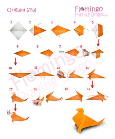 seal origami | origami seal video this video origami tutorial shows how to fold this ...