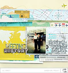 #papercraft #scrapbook #layout.  Moments: Meeting History  by Jill Sprott @2peasinabucket