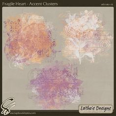 Fragile Heart - Accent Clusters :: Mixed Element Packs :: Embellishments :: SCRAPBOOK-BYTES