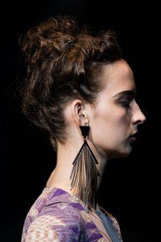 Fringe earring   - ELLE.com