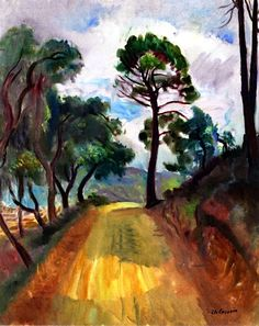 Road to Grimaud with Pines Charles Camoin - 1947