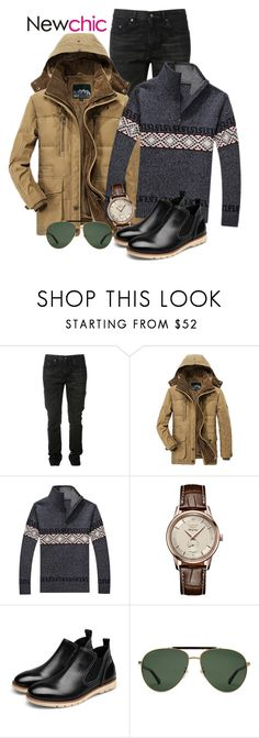 """""""Newchic"""" by elly-852 ❤ liked on Polyvore featuring Yves Saint Laurent, AFS JEEP, Longines, Gucci, men's fashion and menswear"""