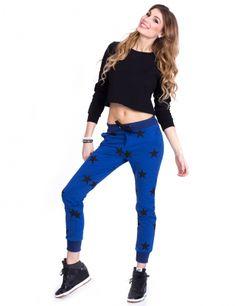 Spodnie w Gwiazdy - niebieskie