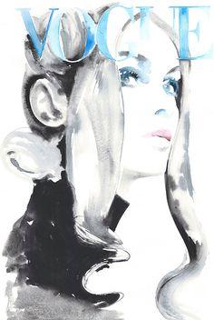 D'archives mode aquarelle impressions Jean par silverridgestudio