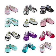 10 Pairs  Princess Shoes  Dolls Accessories For Kids Girls Gift Db