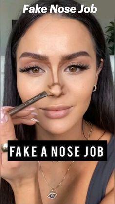 Nose Makeup, Face Makeup Tips, Makeup Eye Looks, Contour Makeup, Skin Makeup, Makeup Art, Beauty Makeup, Contour Brush, Natural Makeup Hacks