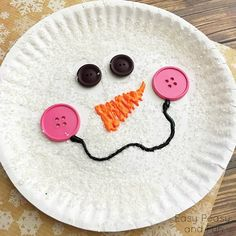 14 Fun Christmas Crafts For Kids. Paper Plate Snowman