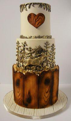 Rustic wedding cake  by Nadia - http://cakesdecor.com/cakes/232521-rustic-wedding-cake