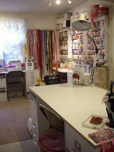 craft room ribbon storage