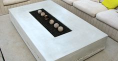 View our concrete furniture gallery to see pictures of concrete tables and benches made with traditional casting and GFRC methods.