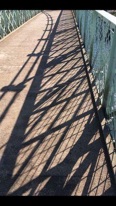 Shadows on a bridge in Shrewsbury