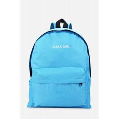 GearBest,Women Embroidery Letter Embellishment Solid Color Vertical Zipper Backpack