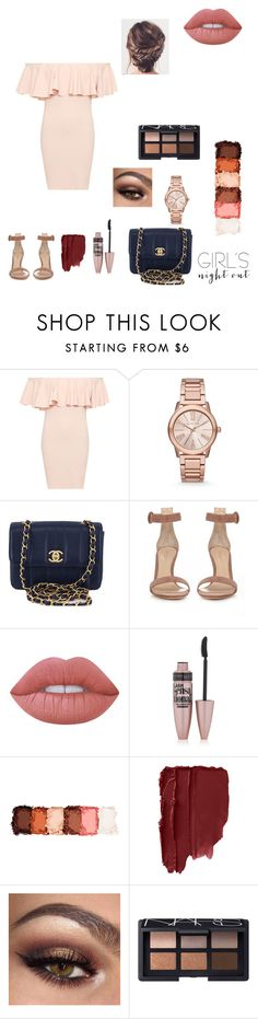 """""""#girlsnightout"""" by mandyee00 ❤ liked on Polyvore featuring WearAll, Michael Kors, Chanel, Gianvito Rossi, Lime Crime, Maybelline, NYX, NARS Cosmetics and girlsnightout"""