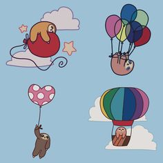 Four Balloon Sloths