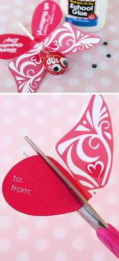 Butterfly Printable Valentine   DIY Valentines Cards for Kids to Make