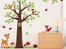 Wandtattoo Kinderzimmer Baum Waldwald Tiere