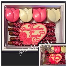 Grandmother, Grandma, Mothers Day, Grandma Gourmet Chocolate Gift Box - I love Grandma