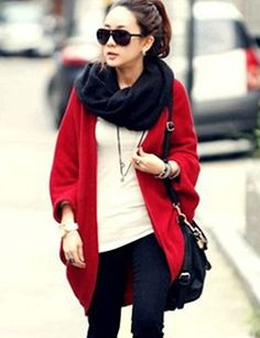 96a77376a5 Stylish Loose Cardigan with Batwing Sleeve For Women- casual style