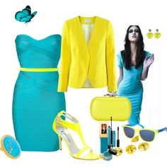 Neon & Bright Colours, created by pinkmode on Polyvore